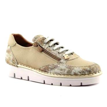 Jose Saenz 2010-XBGM Casual Lace Shoe-Champagne Beige