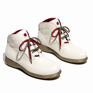 Jose Saenz 2082-BG Lace Boot-White