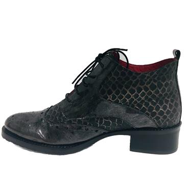 JS LACED BROGUE BOOT-BLACK