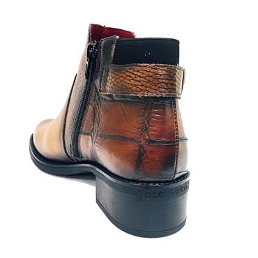 Jose Saenz 2135-L-C-K Buckle Ankle Boot-TAN