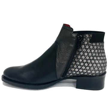 Jose Saenz Boot With Side Zip 2374-ZMCT-Black Combi