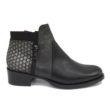 - Jose Saenz Boot With Side Zip 2374-ZMCT - Black Combi
