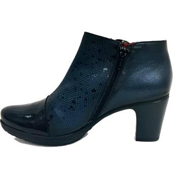 JS TWO TONE BOOT WITH BUCKLE-Navy