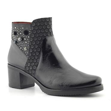 Jose Saenz 5131-ZCTGL Heeled Boot-BLACK