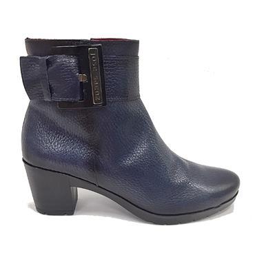 Jose Saenz 5182-C Heel Ankle Boot-Navy