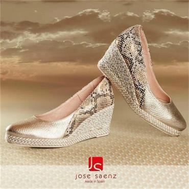 Jose Saenz 6029-Cm-Sm Wedge Shoe-CHAMPAGNE
