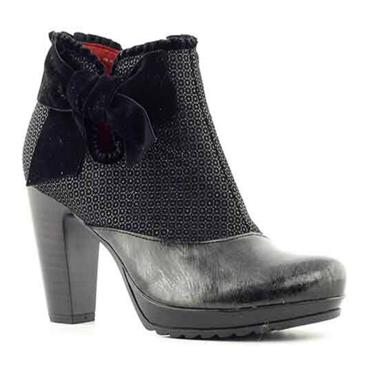 JS LARGE BOW BOOT 7035-BLACK