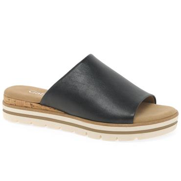 Gabor Acadamy Mule Sandal-BLACK