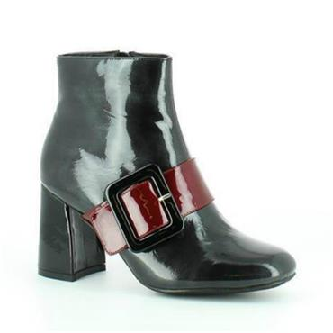 ALANIA HF PATENT BOOT-PEWTER PATENT