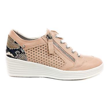 Zanni Alexandria Casual Wedge Shoe-BLUSH
