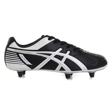 - Asics Alfa T1 Football Boots Studs - BLACK WHITE