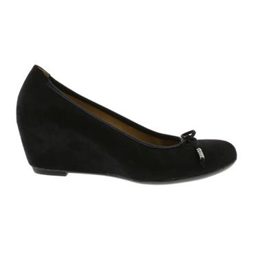 Gabor Alvin 85.362 Wedge Shoe-BLACK SUEDE