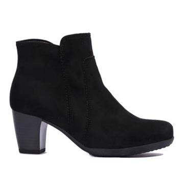 GABOR AMUSING HEEL BOOT-Black Sde