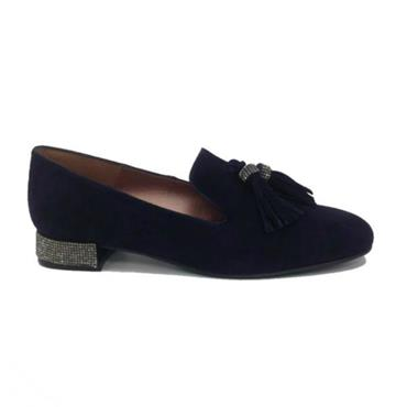 PA ANTE JEWEL HEEL SHOE-Navy