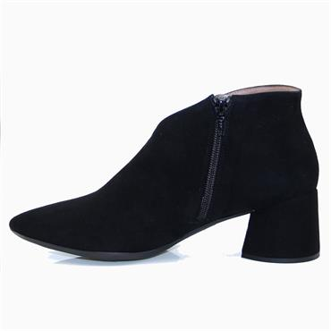 Wonders I-8021 Ante Shoe Boot-BLACK SUEDE