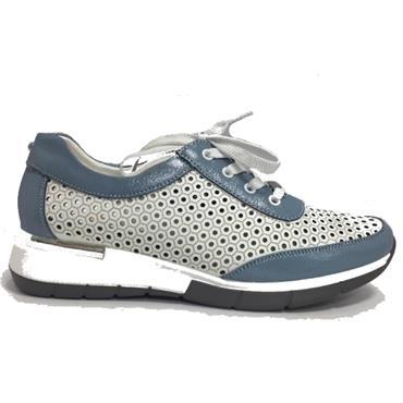 Zanni Arluad Casual Shoe-Blue Mix