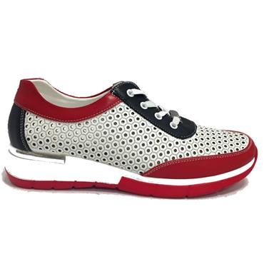 - Zanni Arluad Casual Shoe - Red Mix