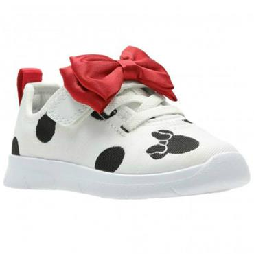 Clarks Ath Bow T-White Combi