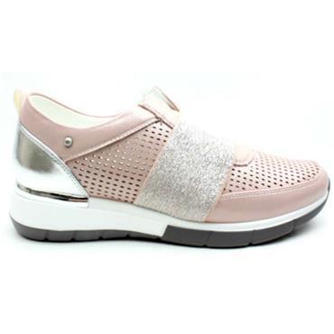 Zanni Attalia Slip On Casual Shoe-BLUSH