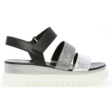 ;BILLIE 23.610 GABOR SANDAL-Black Silver