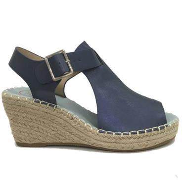 BISBEE ZANNI SANDAL WEDGE-BLUE