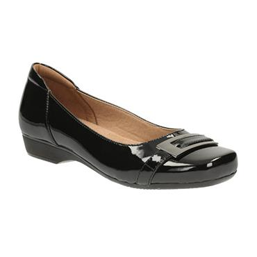 Clarks Blanche West Shoe-BLACK PATENT