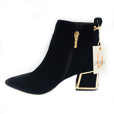UH BLUE HAWALL ANKLE BOOT-BLACK SUEDE