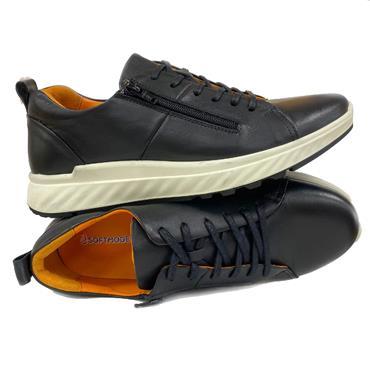 Softmode Brad Mens Casual Shoe-BLACK