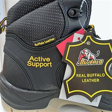 CHILDREN BUFFALO LACE SAFETY BOOT-BLACK