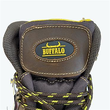 CHILDREN BUFFALO LACE SAFETY BOOT-BROWN
