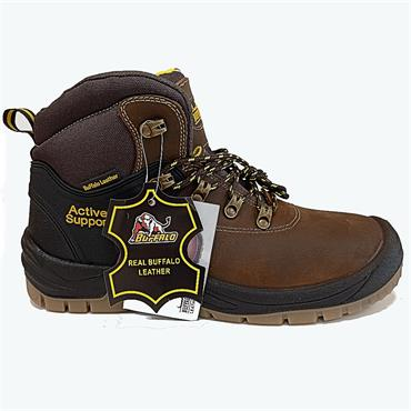 Buffalo Lace Safety Boot-BROWN