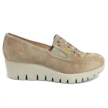 - Wonders C-33205 Wedge Shoe - TAUPE