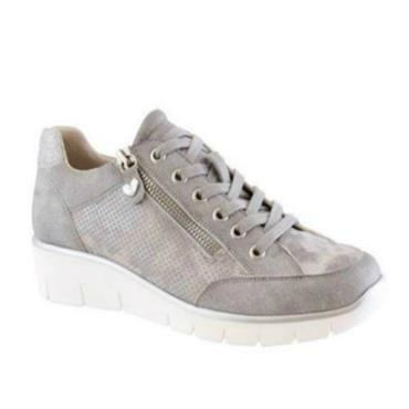 Susst Camden Lace Casual Shoe-Silver