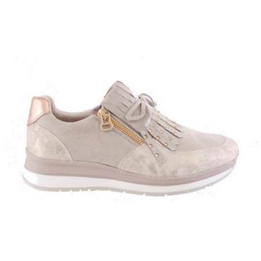 Susst Cando Casual Zip Shoe-GOLD
