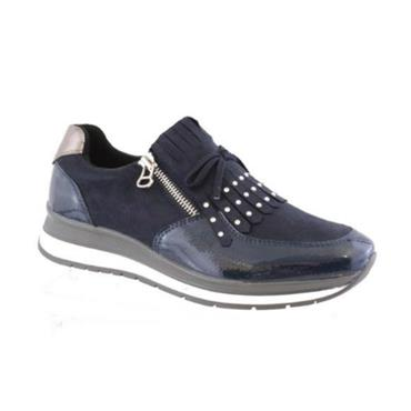 Susst Cando Casual Zip Shoe-NAVY