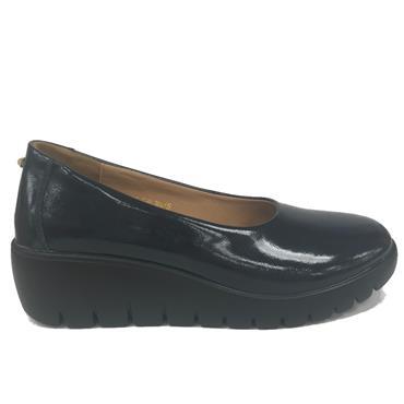 Kate Appleby Chester Wedge Shoe-Navy