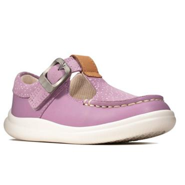 Clarks Cloud Rosa T-Lilac Leather
