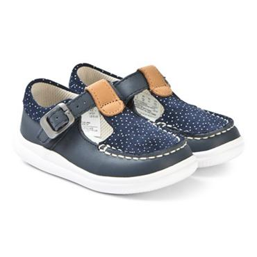 Clarks Cloud Rosa T-Navy Leather