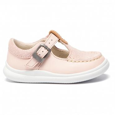 Clarks Cloud Rosa T-Pink Leather