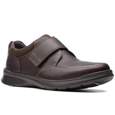 CLARKS COTRELL STRAP MANS SHOE-BROWN