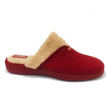 Devalverde Ladies Mule Slippers-RED