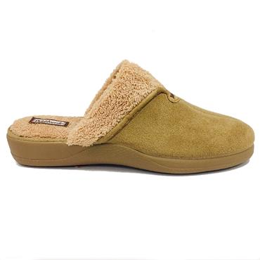 Devalverde Ladies Mule Slippers-TAN