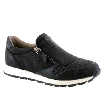 Susst Zip Casual Shoe-BLACK
