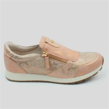 Susst Zip Casual Shoe-Rose Gold