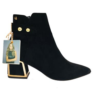 UH DOUBLE TROUBLE ANKLE BOOT-BLACK SUEDE