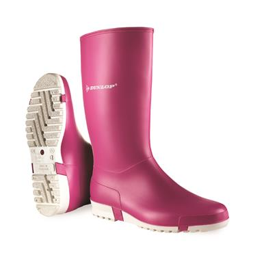LADIES DUNLOP WELLIES-Pink