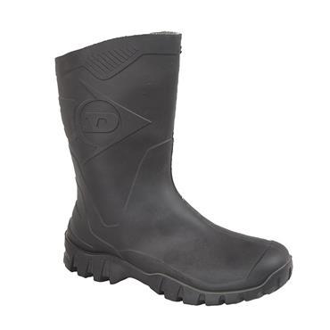 Ladies Dunlop Short W116a Wellie-BLACK