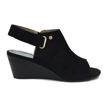 Eau Claire Sandal  Wedge-BLACK