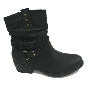 ANKLE BOOT-BLACK