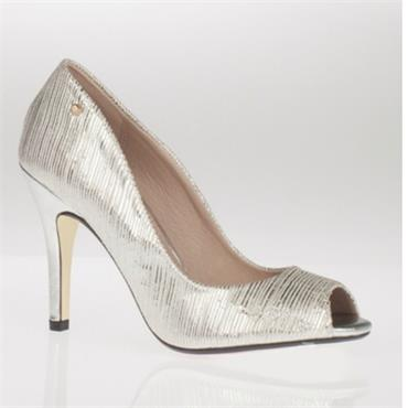Kate Appleby Everglade Peep Toe Shoe-Silver